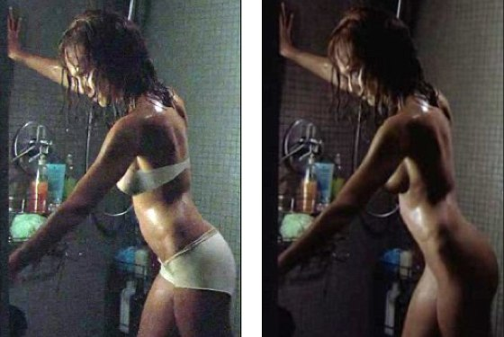Jessica Alba The Eye Naked Shower