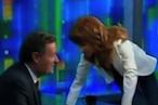 Kathy Griffin Kisses, Mocks Piers Morgan