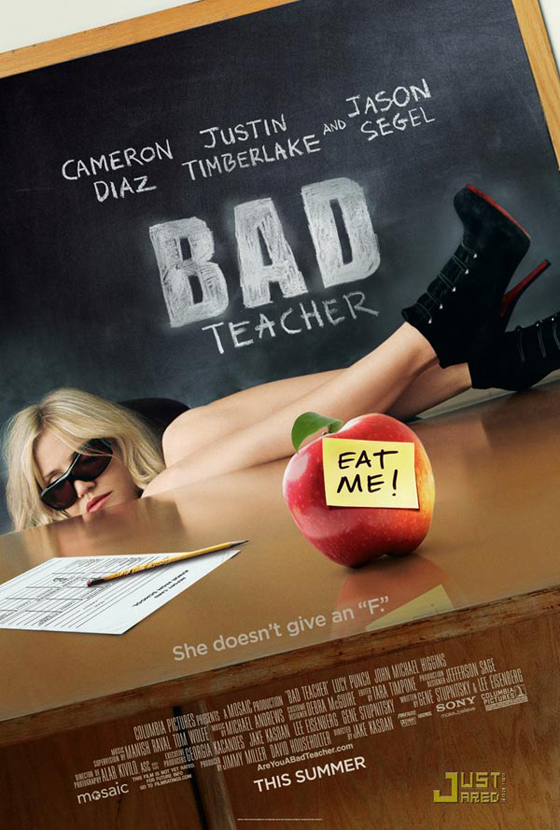 cameron diaz bad teacher poster. Cameron Diaz#39;s Bad Teacher