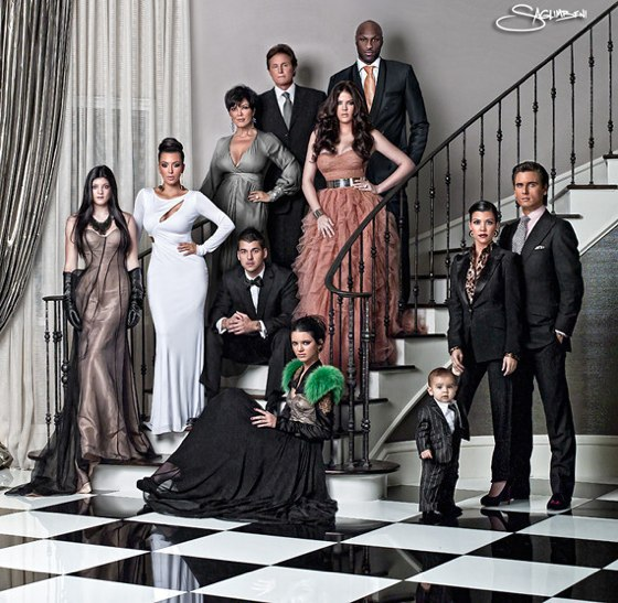 See the Kardashians' Christmas Card Family Photo