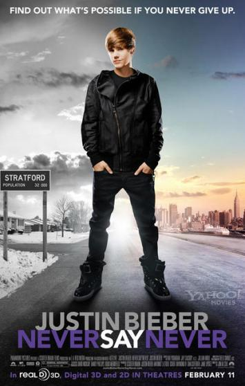 See a Giant Justin Bieber on His Never Say Never Poster
