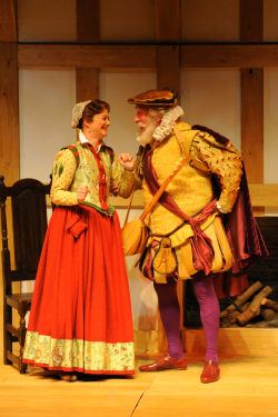 theater review the globes joyous buoyant merry wives of