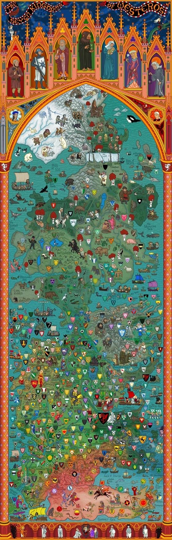 Карти на Вестерос и отвъд Westerosmap