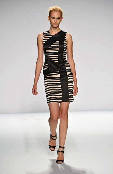 Narciso's entire collection was beautiful and still very much true to form. The black-and-white dresses, however, were sexier than in seasons past.