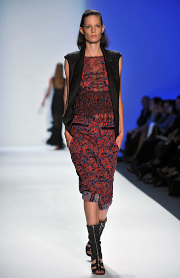 Chai's prints had a fun, nineties feel to them, especially when paired with a vest.