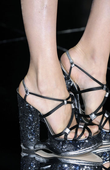 Karlie Kloss said Dolce & Gabbana's footwear scared her. Now you can see why.