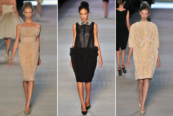 New king of glamour Giambattista Valli's dresses and silhouettes won raves.