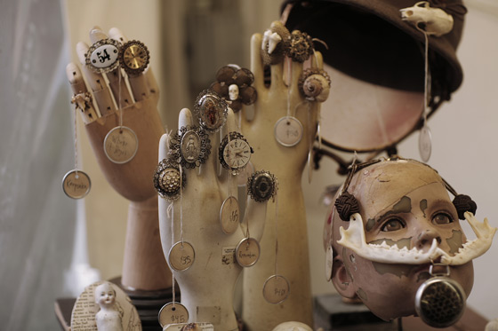 More Steampunk wares for sale. These people had better always be on time to stuff.
