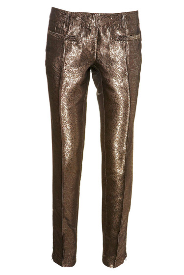 Brocade trousers: 50 pounds and sure to look great on everyone!