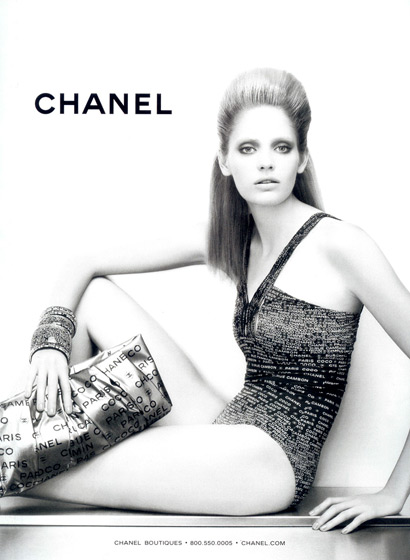 Karl Lagerfeld shot Heidi Mount for Chanel. Mount replaces Claudia Schiffer.