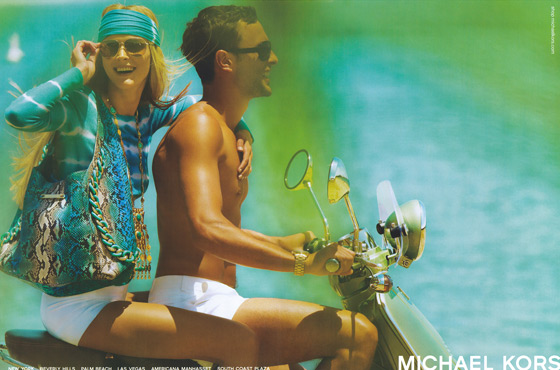 Mario Testino shot Carmen Kass for Michael Kors. No surprise since she's been the designer's unofficial muse for years.