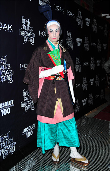 <em>Project Runway</em> alum Austin Scarlett went as a geisha girl. And it doesn't look like that made him very happy.