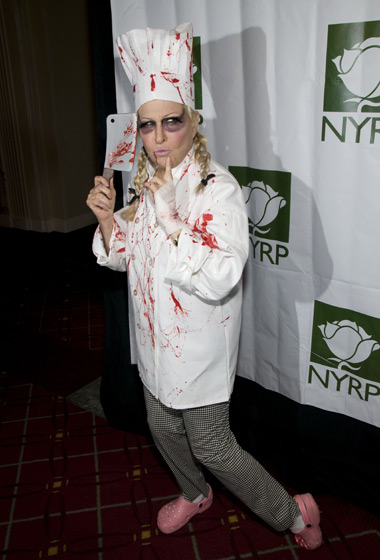 Bette Midler used Halloween as an excuse to wear Crocs out in public. Sigh.