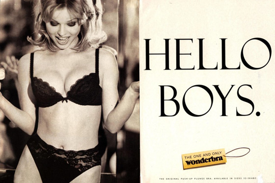 In 1997, Eva Herzigova stopped traffic -- literally -- when a billboard of her now infamous Wonderbra ad went up in London.