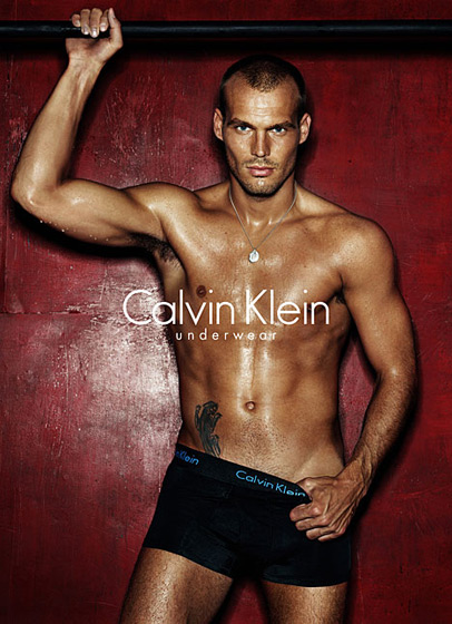 Swedish soccer hunk Freddie Ljunberg may have turned us on to the sport even before Beckham (he signed with Calvin between 2003 and 2007). Greased up <em>and</em> pulling his skivvies down? We need some air.