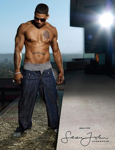 Lest you think all the skin came from Calvin, Nelly showed off his assets for Sean John in July 2008. So ... chesty.