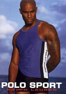 Tyson's 1993 Polo ad is almost sedate in comparison to the skin we see nowadays. But his eyes are so mesmerizing. Smoldering even.
