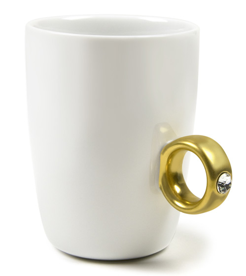 This Swarovski-studded mug doubles as an accessory. Available in gold or silver. <em>Floyd 2-Carat Cup, $18</em>.