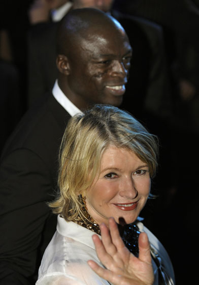 Seal rocked out in the audience with Martha Stewart. She was on an arts-and-crafts research trip.