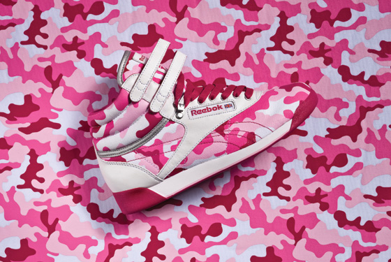 <strong>Freestyle Hi Camo, January 2009</strong><br>Really, really bright pink shoes. A feminine take on camo, if you dare to go there.