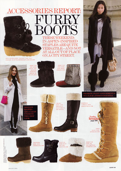 We are all for warm footwear that prevents one from slipping in the snow, but we don't like a single shoe on this page. We like sleek, fur-<em>lined</em> boots. Not boots that make it look like you have electrocuted kittens clinging to your ankles.