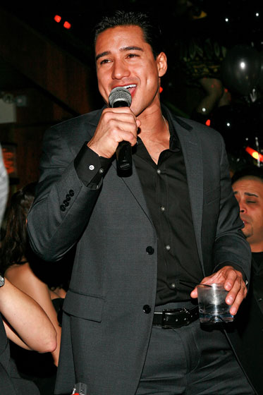 Mario Lopez hosted a party at Marquee (where else?). His outfit is as memorable as he is without his shirt off.