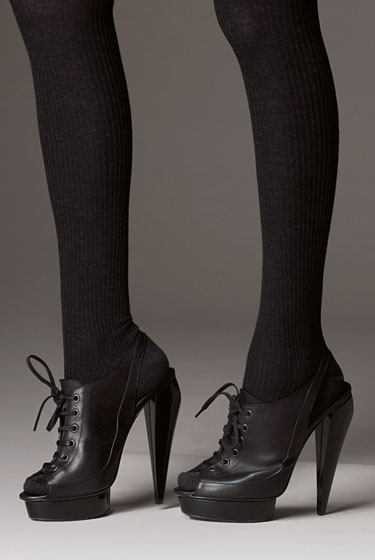 Let's combine all our favorite shoes into one, shall we? Slingback, peep-toe, lace-up, platform oxfords. Thanks, Burberry.