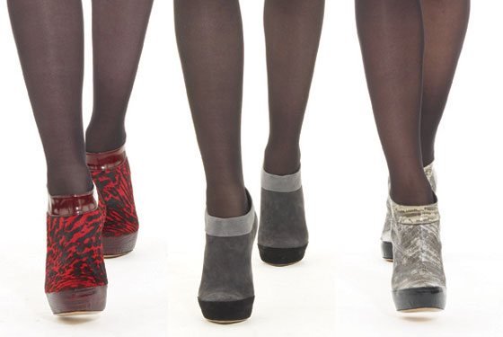 Bootees are here to stay. Donna Karan accented her collection with several pairs.