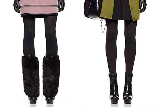 The platforms on the Phi shoes are amazing. For even more glam, or for really keeping warm, there's fur!