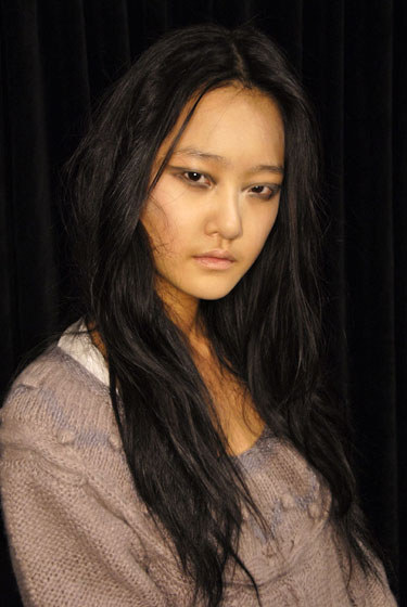 "<a href=""http://nymag.com/fashion/models/hkang/hyonikang/"">Hyoni Kang (FORD)</a><br><br>Ford Model's 2008 Supermodel of the World joins fellow South Koreans Daul Kim, Hye Park, and Han Jin as one of the few Asian models on the runways today. She shared the August 2008 cover of Korean <em>Vogue</em> with Park, and is a fixture in <em>V</em> magazine. Kang's signature is an aggressive runway walk that rivals power-stomper Natasha Poly."