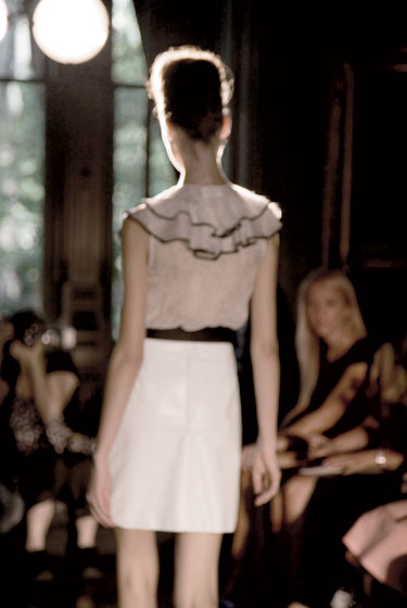 A look from the spring 2008 collection on the runway.