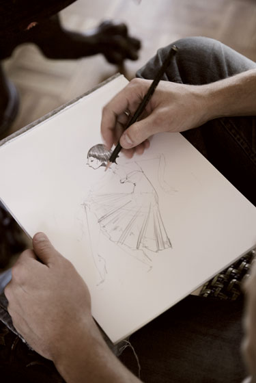 "A sketch from the fall 2008 collection. Check out the finished product <a href=""http://nymag.com/fashion/fashionshows/2008/fall/main/newyork/womenrunway/ruffian/slideshow.html?35"">here</a>."