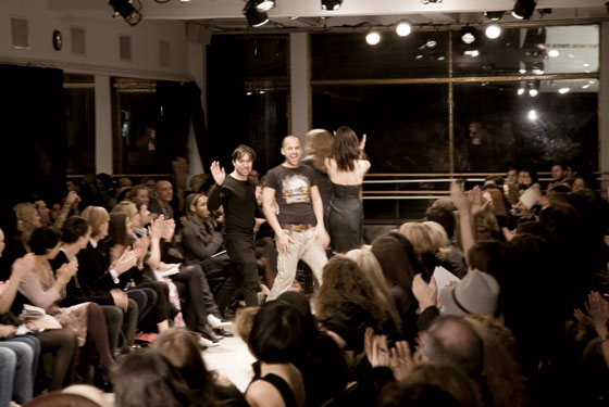Claude Morais and Brian Wolk at the end of the fall 2008 show.