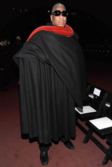 Fashion Week's caped crusader. But this is nothing new.