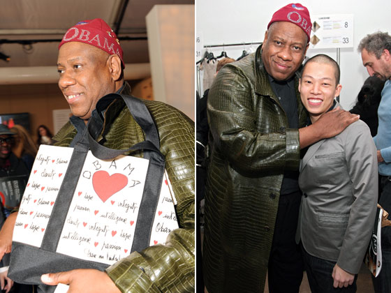 Andre still loves his Obama merch and crocodile outerwear. If he could add Jason Wu to his Obama accessory closet and take him out to parties whenever he could, we're guessing he would.