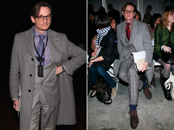 We never realized it until this Fashion Week, but Hamish knows how to <em>work it</em>. Here he vamps at the Marc Jacobs show (left) and VPL. Is he the new Andre Leon Talley?