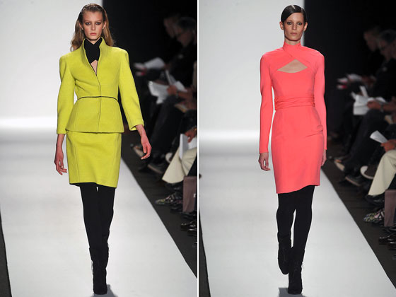 Narciso took on the neon trend full-on -- dousing entire outfits in shades of highlighter markers, while keeping the rest of the look toned down with opaque black tights and black shoes.