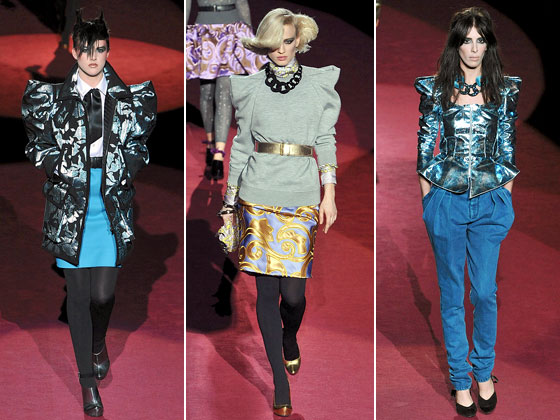 Marc Jacobs featured the craziest shoulders of all -- on everything from jackets to tops to sweaters. Totally eighties.
