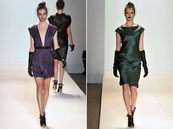 Paired with cocktail dresses at Cynthia Steffe.
