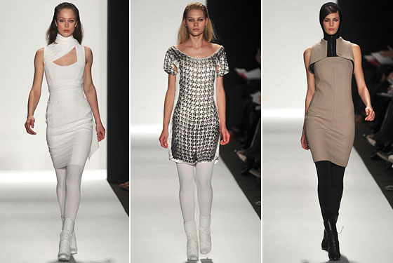 "<a href=""http://nymag.com/fashion/fashionshows/2009/fall/main/newyork/womenrunway/narcisorodriguez/"">Narciso</a> is the king of minimal -- clean lines, a modern aesthetic, and dresses that are sexy and beautiful."