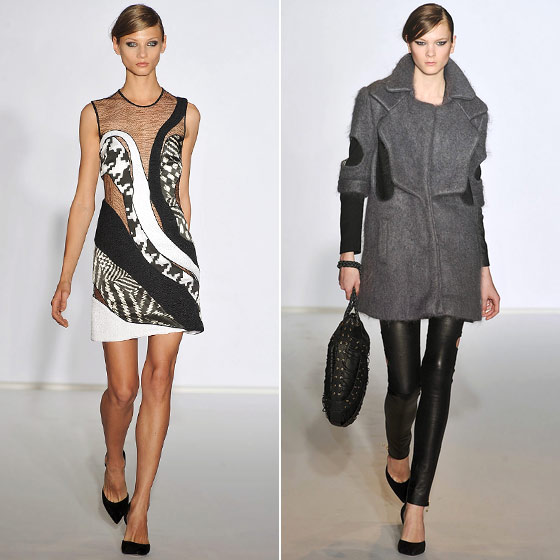 "<a href=""http://nymag.com/fashion/fashionshows/2009/fall/main/newyork/womenrunway/preen/"">Preen</a> gave us a collection full of sheer looks and coats with dazzling cutouts. Who needs function when you have form?"