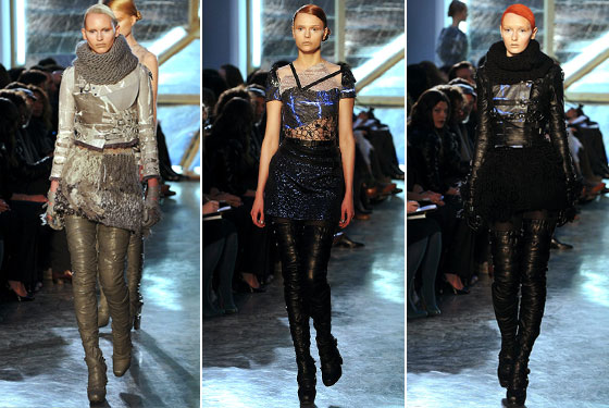 "What wasn't there to love about <a href=""http://nymag.com/fashion/fashionshows/2009/fall/main/newyork/womenrunway/rodarte/"">Rodarte's</a> show? From the thigh-high boots to the leather jackets, the show was hot, fun, and downright amazing."