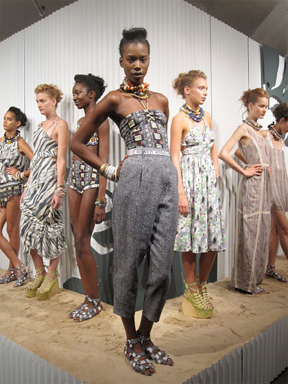 Suno's spring 2011 collection, which featured the Loeffler Randall collaborative footwear.