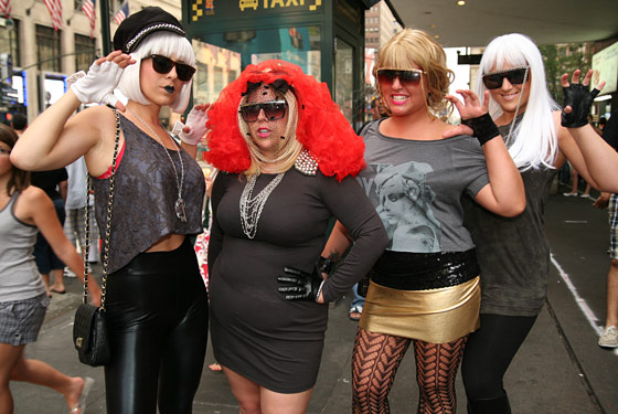 <strong>Marisa Smith (far left), 28, a hairdresser from Islip, Long Island</strong> 