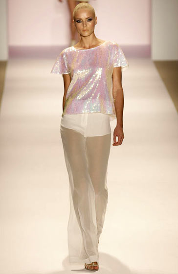 Erin Fetherston's iridescent top.