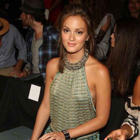 We honor Leighton Meester for being the most omnipresent 'Gossip Girl' cast member in attendance this season. She went to Fashion Rocks and the Julie Haus show on the 5th, Diane Von Furstenberg on the 7th, Phillip Lim on the 10th, and Zac Posen on the 11th. We are still disappointed she didn't show up to the Lorick presentation -- a designer who earned a greatly increased presence when Blaire Waldorf started wearing her frocks.