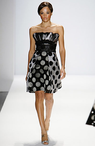 Saleisha won cycle nine and walked three times in Pamella Roland's show.