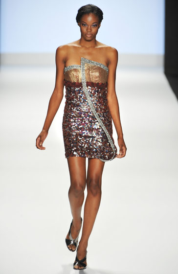 Eugena Washington was the second runner-up on cycle seven. She modeled one of Jerrell's dresses for the <em>Project Runway</em> show.