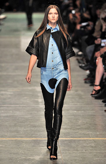 Givenchy's Western, cowboy-inspired collection was full of leather and denim.