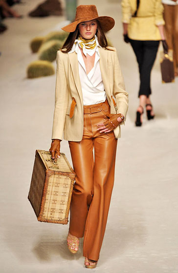 Hermes made leather pants upscale.